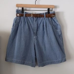 Vintage High Rise GV jeans Shorts with Belt
